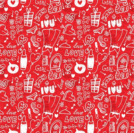 seamless love pattern Stock Photo - Budget Royalty-Free & Subscription, Code: 400-04273764