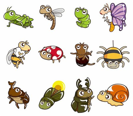 cartoon bug icon Stock Photo - Budget Royalty-Free & Subscription, Code: 400-04273923