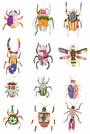 cartoon color bug icon Stock Photo - Budget Royalty-Free & Subscription, Code: 400-04273983
