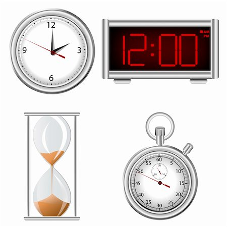 sand clock - Set of time measurement instruments icons Stock Photo - Budget Royalty-Free & Subscription, Code: 400-04284176