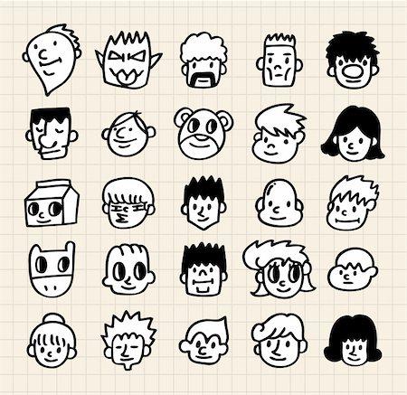 cute cartoon face Stock Photo - Budget Royalty-Free & Subscription, Code: 400-04284415
