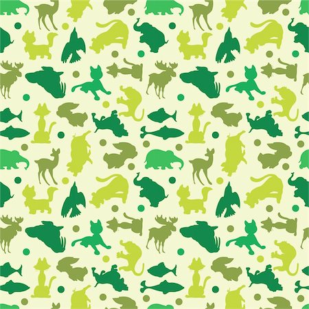 animal silhouettes seamless pattern Stock Photo - Budget Royalty-Free & Subscription, Code: 400-04284433