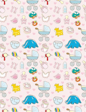 seamless baby toy pattern Stock Photo - Budget Royalty-Free & Subscription, Code: 400-04284460