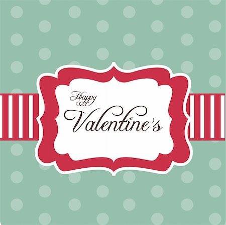 Retro card for Valentine's Day, vector illustration Stock Photo - Budget Royalty-Free & Subscription, Code: 400-04284983