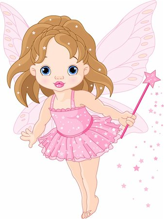 Illustration of Cute little baby fairy in fly Stock Photo - Budget Royalty-Free & Subscription, Code: 400-04286128