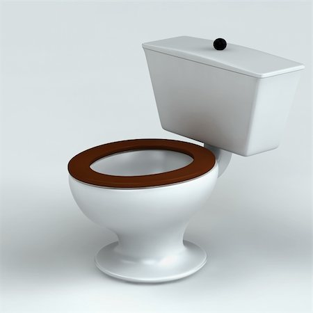 Beautiful toilet isolated on white 3d rendered Stock Photo - Budget Royalty-Free & Subscription, Code: 400-04288851