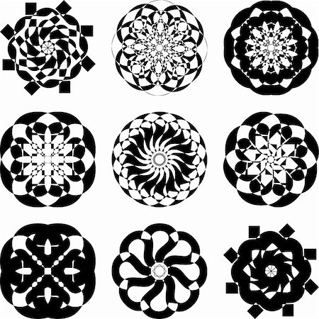 simsearch:400-04744132,k - Illustration of decorative elements set on a white background. Stock Photo - Budget Royalty-Free & Subscription, Code: 400-04294877