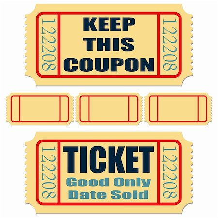 scalable - Different tickets with blank templates over white Stock Photo - Budget Royalty-Free & Subscription, Code: 400-04295048