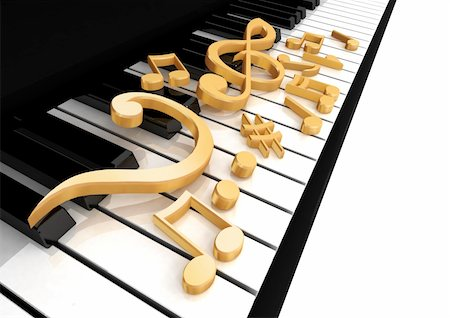treble clef is on the piano keys Stock Photo - Budget Royalty-Free & Subscription, Code: 400-04295749