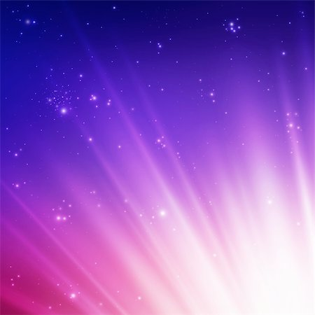 pretty pink star white background - Sun rays on a colorful sky. Vector illustration Stock Photo - Budget Royalty-Free & Subscription, Code: 400-04297845