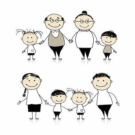 Happy family together - parents, grandparents and children Stock Photo - Budget Royalty-Free & Subscription, Code: 400-04299660