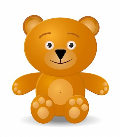 simsearch:400-04598294,k - teddy bear toy isolated on white background Stock Photo - Budget Royalty-Free & Subscription, Code: 400-04299902