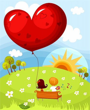 vector illustration of a cute valentine card Stock Photo - Budget Royalty-Free & Subscription, Code: 400-04290981
