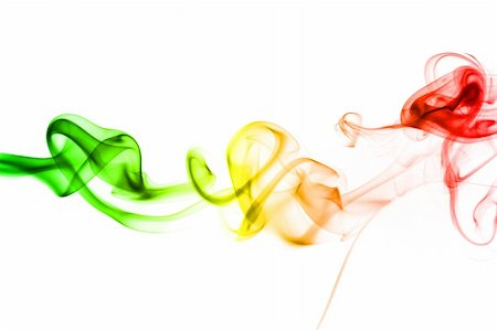 rainbow smoke background - abstract rainbow smoke background isolated on white background Stock Photo - Budget Royalty-Free & Subscription, Code: 400-04292166