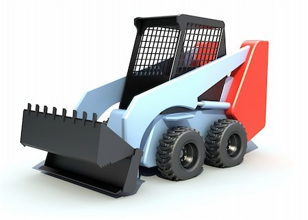 bobcat excavator Stock Photo - Budget Royalty-Free & Subscription, Code: 400-04292431