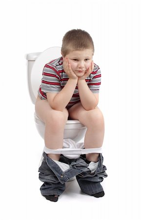 Little boy is sitting on the toilet Stock Photo - Budget Royalty-Free & Subscription, Code: 400-04293622