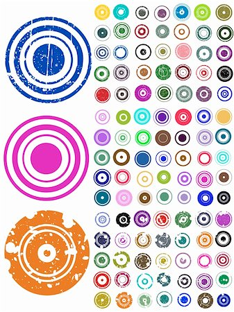 pokerman (artist) - 105 Vector Circle Elements with splat and grunge effects Stock Photo - Budget Royalty-Free & Subscription, Code: 400-04304634