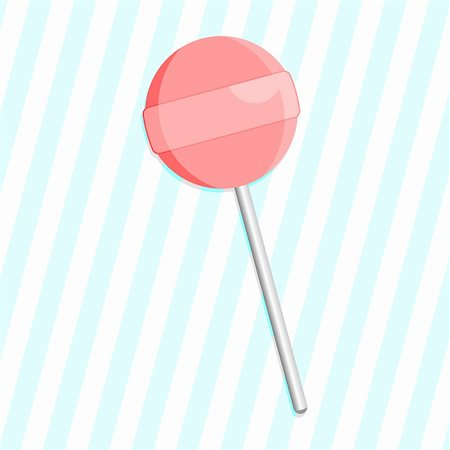 scalable - Pink lollipop over blue striped background Stock Photo - Budget Royalty-Free & Subscription, Code: 400-04306447
