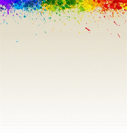 drop painting splash - Color paint splashes artwork. Gradient splashes vector background eps10. Stock Photo - Budget Royalty-Free & Subscription, Code: 400-04306640