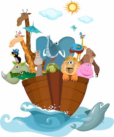 vector Illustration of a Noah's Ark Stock Photo - Budget Royalty-Free & Subscription, Code: 400-04308996