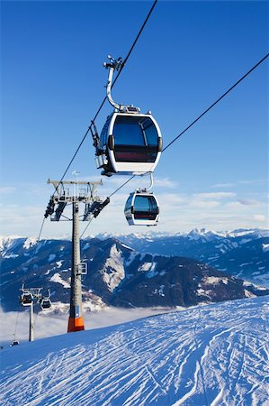 Cable car going to Schmitten ski resort in Zell Am See, Austria Stock Photo - Budget Royalty-Free & Subscription, Code: 400-04309645