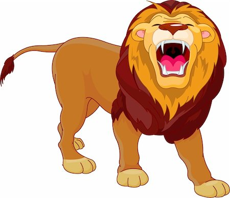 roar lion head picture - Fully editable  illustration of a roaring cartoon Lion Stock Photo - Budget Royalty-Free & Subscription, Code: 400-04300468