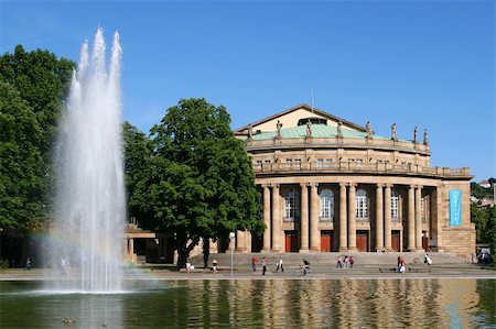 The opera house in Stuttgart is home of the famous ballett Stock Photo - Budget Royalty-Free & Subscription, Code: 400-04300540