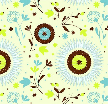 simsearch:400-04765926,k - Seamless pattern petro floral, Vector Illustration Stock Photo - Budget Royalty-Free & Subscription, Code: 400-04301039
