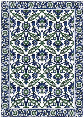 Persian detailed vector carpet Stock Photo - Budget Royalty-Free & Subscription, Code: 400-04301755
