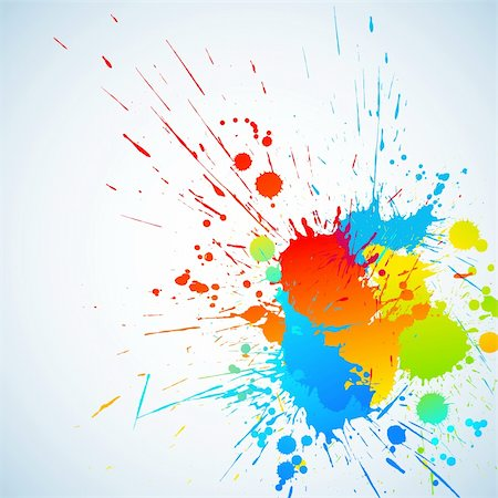 dripping splat - Colorful bright ink splashes with place for text. Vector illustration Stock Photo - Budget Royalty-Free & Subscription, Code: 400-04303227