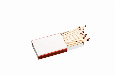 A matchbox with blank label and white background Stock Photo - Budget Royalty-Free & Subscription, Code: 400-04303584