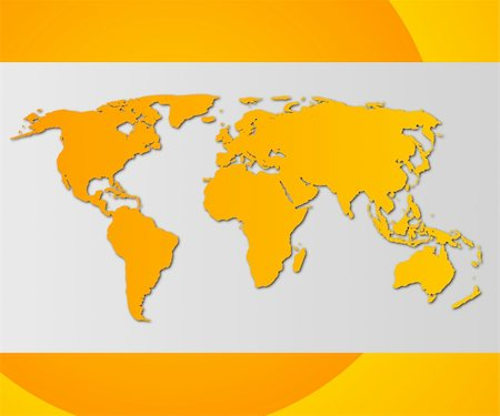 world map or globe business card with copyspace Stock Photo - Budget Royalty-Free & Subscription, Code: 400-04314615