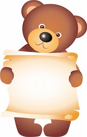 simsearch:400-04598294,k - teddy bear isolated on white background. Vector Stock Photo - Budget Royalty-Free & Subscription, Code: 400-04315142