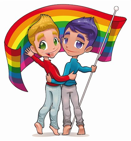 Born this way. Funny cartoon and vector image for gay pride. Isolated objects. Stock Photo - Budget Royalty-Free & Subscription, Code: 400-04315256