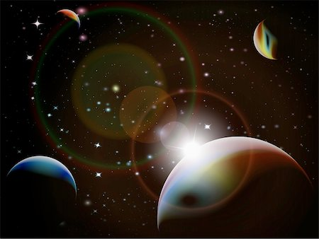 pokerman (artist) - Eclipse - Fantasy Space scene, highly detailed vector illustration Stock Photo - Budget Royalty-Free & Subscription, Code: 400-04315450