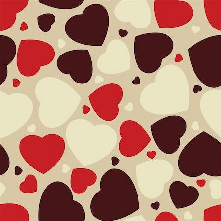 Hearts seamless Background. EPS 8 vector file included Stock Photo - Budget Royalty-Free & Subscription, Code: 400-04316557