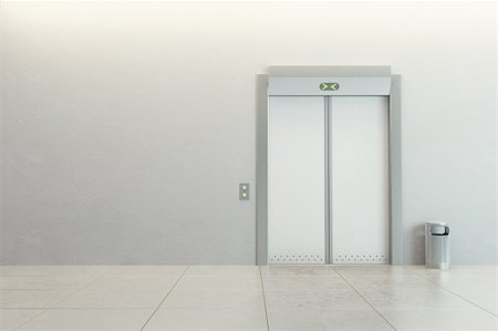 modern elevator with closed doors Stock Photo - Budget Royalty-Free & Subscription, Code: 400-04317268