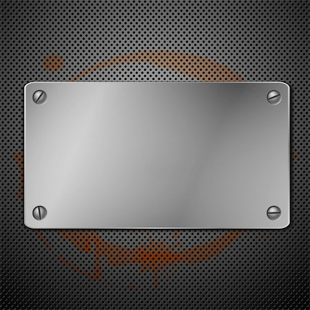 Metallic plaque for signage. Vector illustration Stock Photo - Budget Royalty-Free & Subscription, Code: 400-04317505