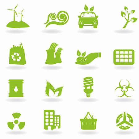 soleilc (artist) - Eco and green environment icons Stock Photo - Budget Royalty-Free & Subscription, Code: 400-04317514