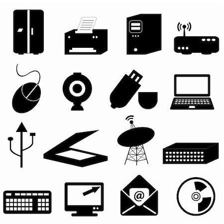 soleilc (artist) - Computer and technology related icons and symbols Stock Photo - Budget Royalty-Free & Subscription, Code: 400-04317558