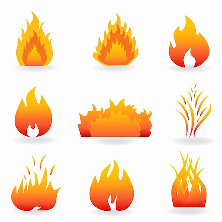 sparks pictures with white background - Flame and fire symbols and icons Stock Photo - Budget Royalty-Free & Subscription, Code: 400-04317628