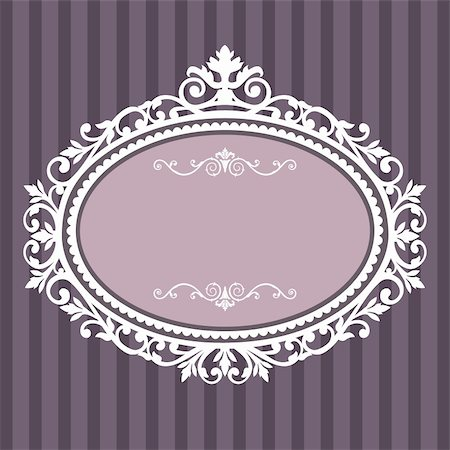 Decorative white frame on the retro background with space for your text, full scalable vector graphic for easy editing and color change Stock Photo - Budget Royalty-Free & Subscription, Code: 400-04317726