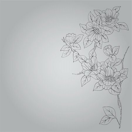 eps10 hand drawn background with a fantasy flower Stock Photo - Budget Royalty-Free & Subscription, Code: 400-04318425