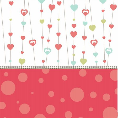 Valentine's background with pink heart for you. vector illustration Stock Photo - Budget Royalty-Free & Subscription, Code: 400-04310127