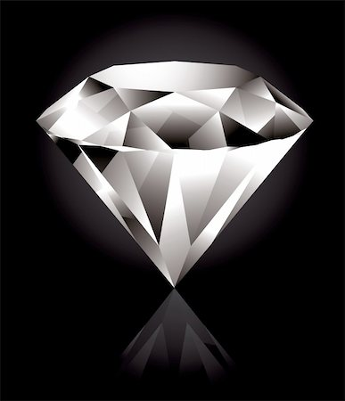 Shiny and bright diamond on a black background Stock Photo - Budget Royalty-Free & Subscription, Code: 400-04310682