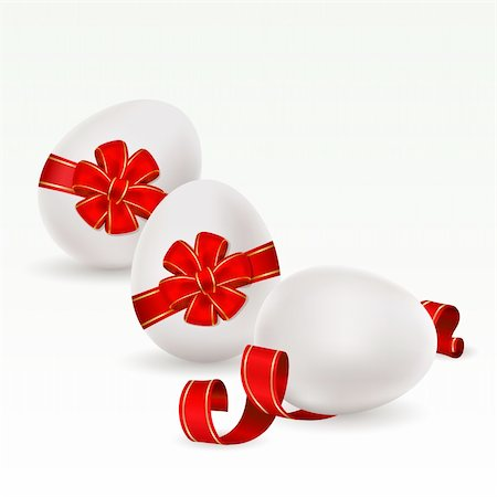 Easter background with egg decorated and red bow Stock Photo - Budget Royalty-Free & Subscription, Code: 400-04310818