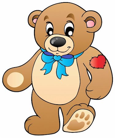 simsearch:400-04598294,k - Cute standing teddy bear - vector illustration. Stock Photo - Budget Royalty-Free & Subscription, Code: 400-04311428