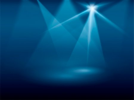 A blue background image of stage lights Stock Photo - Budget Royalty-Free & Subscription, Code: 400-04311996