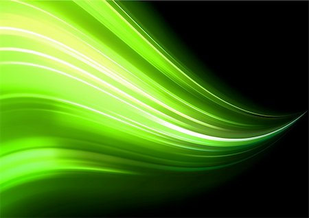 sparks illustration - Vector illustration of neon abstract background made of blurred magic green light curved lines Stock Photo - Budget Royalty-Free & Subscription, Code: 400-04312279