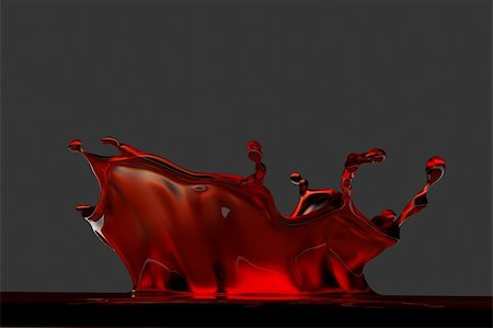 3D rendered red splash Stock Photo - Budget Royalty-Free & Subscription, Code: 400-04312604